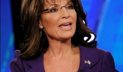 Former Alaska Gov. Sarah Palin, currently on a national book tour, did not immediately react to news that MSNBC host Martin Bashir resigned because of his comments about her. (Fox News via Associated Press)