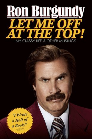 "The cover of ""Ron Burgundy:"