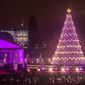 The National Christmas Tree glows brightly in front of the White House, in Washington, DC., Friday, December 6, 2013.  (Andrew S Geraci/The Washington Times)