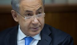 """""""Iran is perilously close to crossing the nuclear threshold,"""" Israeli Prime Minister Benjamin Netanyahu says. """"History will judge all of us on whether we succeed or not in rising to meet this greatest of all challenges."""" (Associated Press)"""