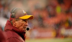 Washington Redskins head coach Mike Shanahan walks the sideline in the fourth quarter as the Washington Redskins play the Kansas City Chiefs at FedExField, Landover, Md., Sunday, December 8, 2013. (Andrew Harnik/The Washington Times)