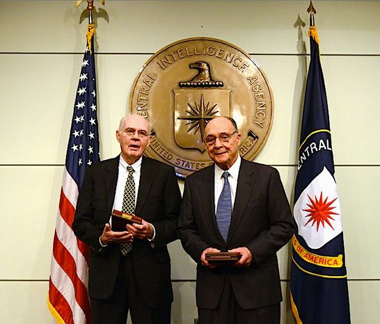 John Downey (left) and Richard Fecteau recently received the CIA's highest honor, the Distinguished Intelligence Cross. They were imprisoned by the