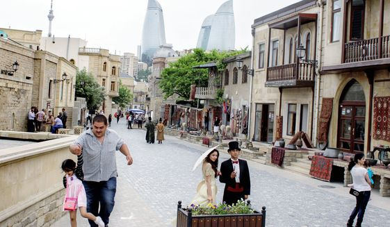 Downtown Baku is a vibrant and active business environment.