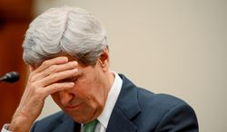U.S. Secretary of State John Kerry appears before the House Foreign Affairs Committee to testify about the Iran Nuclear Deal at a hearing on Capitol Hill, Washington, D.C., Tuesday, December 10, 2013. (Andrew Harnik/The Washington Times)