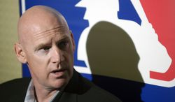 Washington Nationals manager Matt Williams answers questions from reporters during a media availability at the baseball's winter meetings in Lake Buena Vista, Fla., Tuesday, Dec. 10, 2013.(AP Photo/Phelan M. Ebenhack)