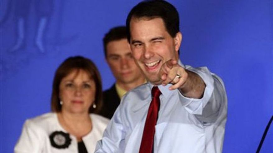** FILE ** Wisconsin Gov. Scott Walker. (Associated Press)