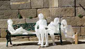 "Ms. Alvarez's ""Ciudad Habitada,"" or ""Inhabited City,"" is a collection of LED-lit mannequins set in everyday positions."