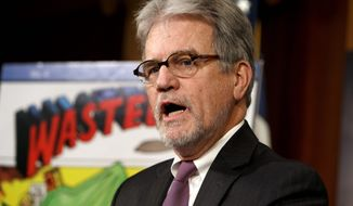 "Sen. Tom Coburn found $325,000 of taxpayer money went to the National Institutes of Health for research that concluded ""wives should calm down."" (ASSOCIATED PRESS)"