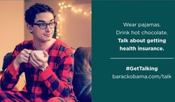 """Jammies and cocoa: The newest Organizing for Action outreach calling for the public to """"talk"""" about Obamacare has inspired unintentional comedy in the social media realm. (ORGANIZING FOR ACTION)"""