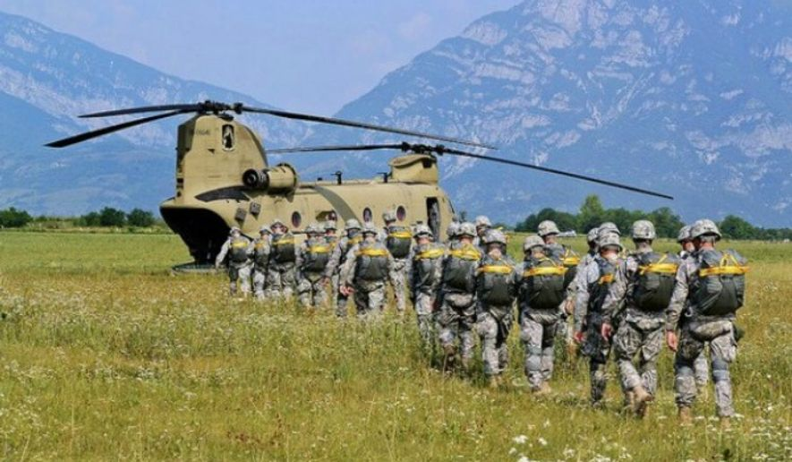 Paratroopers are from the 173rd Airborne Brigade Combat Team. (Twitter, U.S. Army)