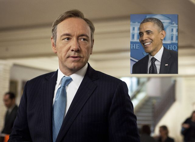"""ILLUSTRATION This image released by Netflix shows Kevin Spacey as U.S. Congressman Frank Underwood in a scene from the Netflix original series, """"House of Cards."""" Spacey was nominated for an Emmy Award for best actor in a drama series on, Thursday July 18, 2013. (AP Photo/Netflix, Melinda Sue Gordon) ** FILE **"""