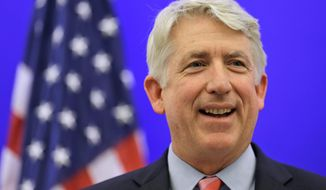 """This was an extraordinarily close election,"" Virginia Attorney General-elect Mark R. Herring (above) said as his Republican rival, Mark D. Obenshain (below), seen with his wife, Suzanne, conceded the race to the Democrat in Richmond on Wednesday. Mr. Obenshain had called for a statewide recount in November after an initial count found a 165-vote margin. (associated press photographs)"