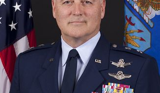 "This undated handout photo provided by the U.S. Air Force shows Maj. Gen. Michael J. Carey.  Investigators say the Air Force general, fired in October as commander of the U.S. land-based nuclear missile force, engaged in ""inappropriate behavior"" while in Russia, including heavy drinking and rudeness to his hosts. (AP Photo/US Air Force)"