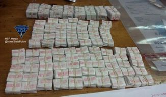 1,250 bags of heroin seized by the Massachusetts State Police.