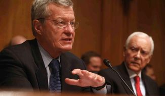 Sen. Max Baucus of Montana has been nominated to be ambassador to China. A confirmation early next year could shake up the election contests to succeed him. (Associated Press)