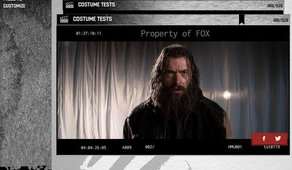 The Wolverine: Unleashed Extended Edition Blu-ray interacts with a Second Screen app for mobile devices that offers such extras as costume tests. (Courtesy 20th Century Fox Home Entertainment)
