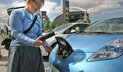 ** FILE *** An ECOtality charging station. (Associated Press)