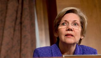 Progressives like Sen. Elizabeth Warren, Massachusetts Democrat, see a space in the political debate that they're trying to fill given rising dissatisfaction in the polls with the tea party, says Jim Manley, a former aide to Senate Democratic leader Harry Reid. (associated press photographs)