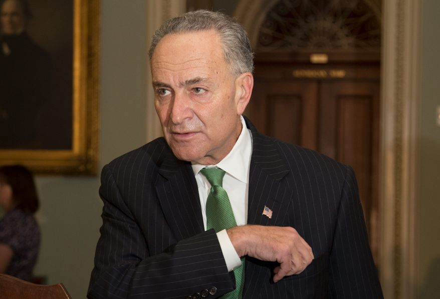 Sen. Charles Schumer, New York Democrat, said on Sunday that he isn't sure if Democrats have the votes yet to clear the 60-vote threshold in a vote to extend unemployment benefits. (ASSOCIATED PRESS)