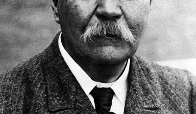 FILE - This 1930 photo shows Sir Arthur Conan Doyle, the author and creator of Sherlock Holmes. Writer Leslie Klinger is challenging the Conan Doyle Estate, LTD over the right to use the Sherlock Holmes character in new tales.  (AP Photo/File)