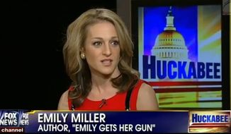 "Emily Miller on ""Huckabee"" on Fox News. Jan. 4, 2014."