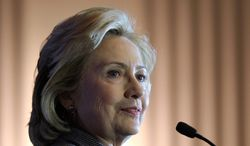 ** FILE ** In this Dec. 6, 2013, file photo, former Secretary of State Hillary Rodham Clinton speaks on Capitol Hill in Washington. (AP Photo/Susan Walsh, File)