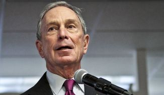 ** FILE ** In this Dec. 18, 2013, file photo, then-Mayor Michael Bloomberg speaks in New York. (AP Photo/Bebeto Matthews, File)