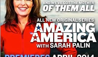 "The Sportsman Channel is eager to showcase new host Sarah Palin who will on Friday talk up her show ""Amazing America,"" which debuts in April. (SPORTSMAN CHANNEL)"