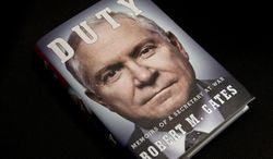 "The book titled ""Duty: Memoirs of a Secretary of War,"" by former Defense Secretary Robert Gates is seen in Washington, Wednesday, Jan. 8, 2014. The White House is bristling over former Defense Secretary Robert Gates' new memoir accusing President Barack Obama of showing too little enthusiasm for the U.S. war mission in Afghanistan and sharply criticizing Vice President Joe Biden's foreign policy instincts. (AP Photo/Jacquelyn Martin)"