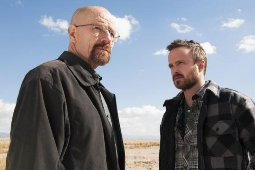 """** FILE ** Ryan Cranston and Aaron Paul in a scene from """"Breaking Bad."""" (Associated Press)"""
