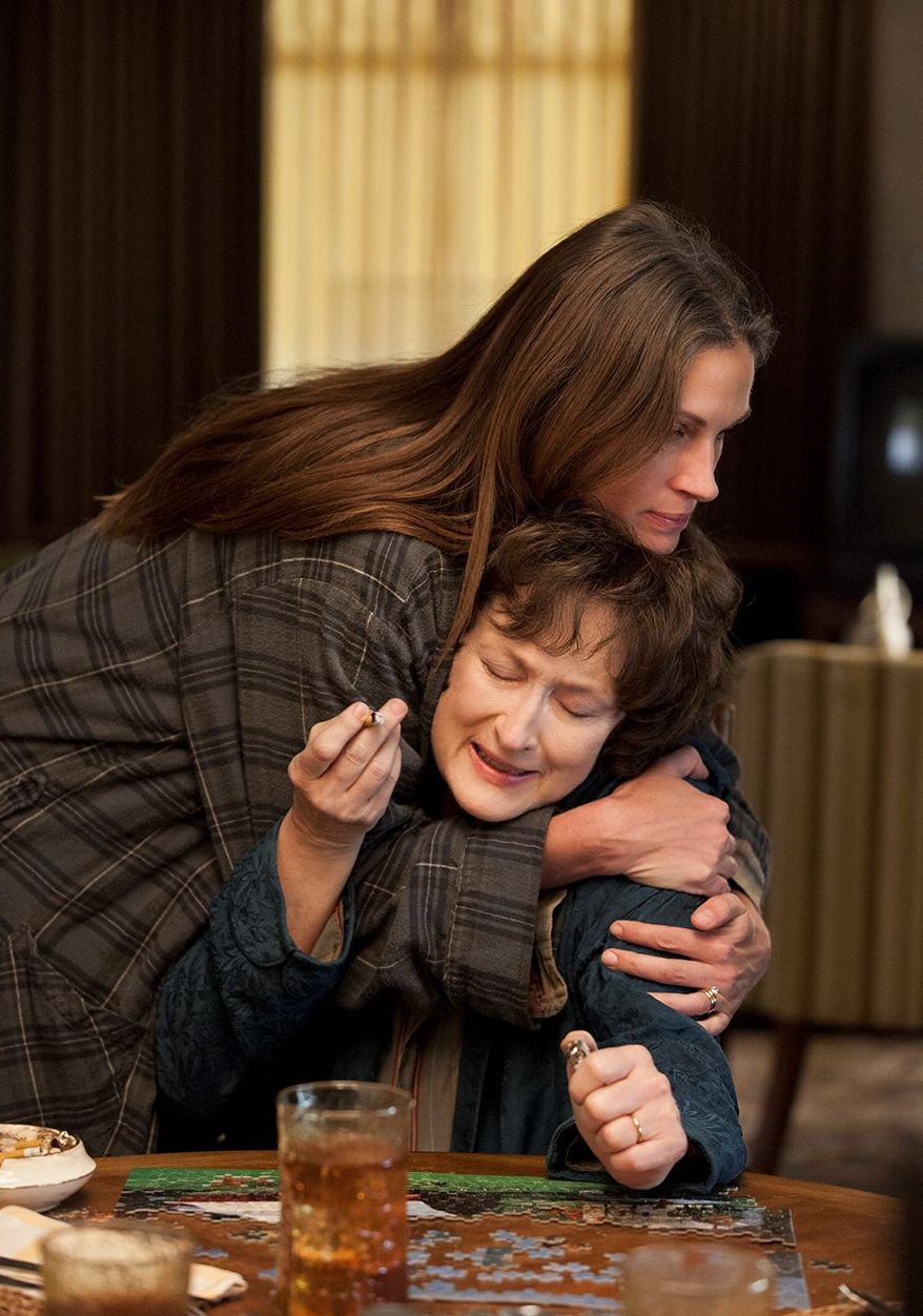 "Julia Roberts and Meryl Streep are just two of the actors in ""August: Osage County"" who very well could be Oscar contenders. (The Weinstein Co. via Associated Press)"