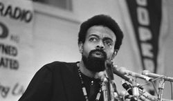 **FILE** Poet and social activist Amiri Baraka speaks March 12, 1972, during the Black Political Convention in Gary, Ind. Baraka, a Beat poet, black nationalist and Marxist revolutionary known for his blues-based, fist-shaking manifestos, died Jan. 9, 2014, at Newark Beth Israel Medical Center in Newark, N.J. at age 79. (Associated Press)