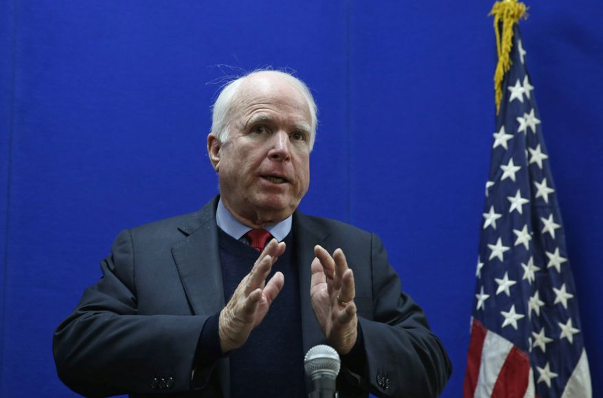 """Sen. John McCain, Arizona Republican, said Mr. Christie did """"an excellent job"""" of defusing the bridge scandal with last week's 108-minute press conference and believes the governor can now move on."""