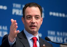 "Republican National Committee Chairman Reince Priebus praised Mr. Christie's lengthy press conference Thursday answering every question on the scandal. ""Chris Christie has been totally open here,"" Mr. Priebus said on NBC's ""Meet the Press."" ""He stood there for 111 minutes in an open dialogue with the press."" (associated press photographs)"