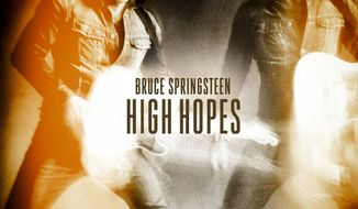 "This album cover image provided by Columbia Records shows Bruce Springsteen's ""High Hopes"" album. ""High Hopes"" features a collection of covers and leftovers from the last decade. (AP Photo/Columbia Records)"