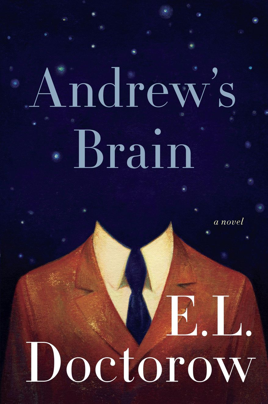 "This book cover image released by Random House shows ""Andrew's Brain,"" by E.L. Doctorow. (AP Photo/Random House)"
