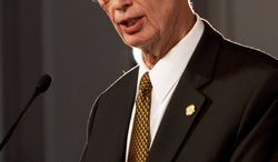 Gov. Robert Bentley practices his speech in the Old House Chamber on the first day of the Alabama Legislature on Tuesday, Jan. 14, 2014, in Montgomery, Ala. This is the start of a three-month session that will lead into this year's elections. (AP Photo/Butch Dill)