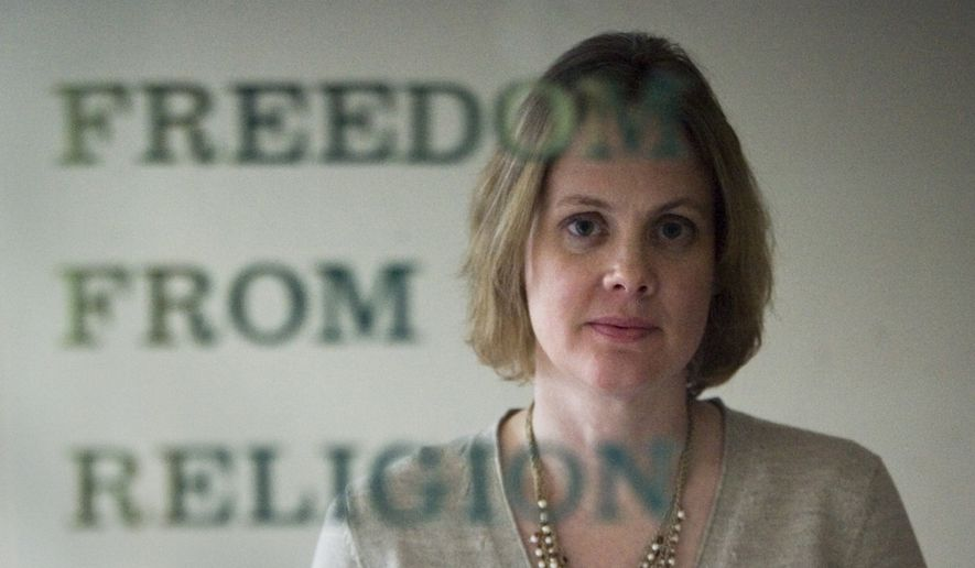 Freedom From Religion Foundation's co-president Annie Laurie Gaylor at the foundation headquarters in Madison, Wis. Religious disaffiliation is rapidly growing among Millennials. (AP Photo/Morry Gash) ** FILE **