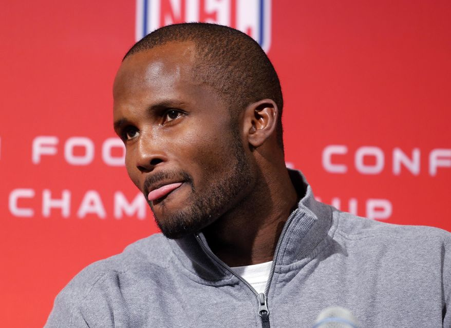Denver Broncos cornerback Champ Bailey listens to a question at a news conference at the NFL Denver Broncos football training facility in Englewood, Colo., on Wednesday, Jan. 15, 2014. The Broncos are scheduled to play the New England Patriots on Sunday for the AFC Championship. (AP Photo/Ed Andrieski)