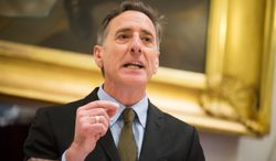 In this Wednesday, Jan. 8, 2014 photo, Vermont Gov. Peter Shumlin delivers the State of the State Address at the Statehouse in Montpelier, Vt. Shumlin Shumlin highlighted opiate abuse in the state by devoting nearly his entire State of the State speech to it. (AP Photo/Andy Duback)