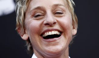 FILE - Ellen DeGeneres arrives at the Daytime Emmy Awards on in this Aug. 30, 2009 file photo taken in Los Angeles. The four Boston area firefighters that talk show host Ellen DeGeneres rewarded with Caribbean cruise tickets for rescuing a dog from an icy river have had to return them because of conflicts with state ethics laws Wellesley Fire Chief Richard DeLorie tells The Boston Globe Wednesday Jan. 15, 2014. (AP Photo/Matt Sayles, File)