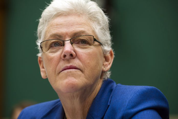 New EPA Administrator Gina McCarthy was aware as far back as 2009 that one of her employees claimed to be working for the CIA while still collecting his EPA paycheck, according to the deposition of John C. Beale. (AP Pho