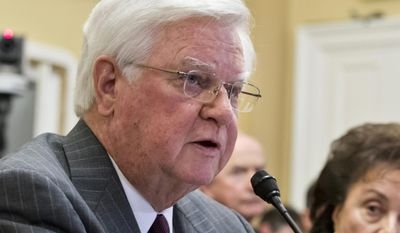FILE - In this Jan. 14, 2013, file photo House Appropriations Committee Chairman Rep. Harold Rogers, R-Ky. testifies on Capitol Hill in Washington. In regards to the budget, Rogers and Senate Appropriations Committee Chair Sen. Barbara Mikulski, D-Md., promise a return to the real regular order in which appropriators are handed a pot of money to divide among the 12 bills. They spend May, June and July voting bills out of committee and then debating, amending and passing them on the House and Senate floors.  . (AP Photo/J. Scott Applewhite, File)