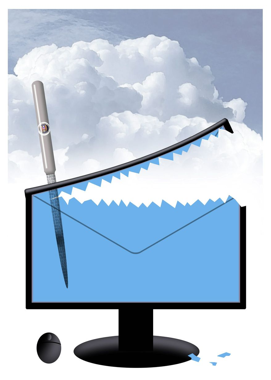 Government's secret backdoor to your email (Alexander Hunter - The Washington Times)