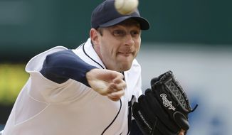 FILE  - In this April 6, 2013, file photo, Detroit Tigers pitcher Max Scherzer throws during a baseball game against the New York Yankees in Detroit. Scherzer has agreed to a one-year contract with the Tigers for $15,525,000, setting himself up for an even bigger payday when he becomes eligible for free agency after the season. (AP Photo/Carlos Osorio, File)