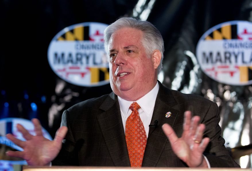 """Maryland Republican Larry Hogan speaks to supporters during the """"Change Maryland"""" event in Annapolis, Md., on Friday, Nov. 22,  2013. Hogan says he is planning to run for governor, even though he may not formally launch his campaign until January. (AP Photo/Jose Luis Magana)"""