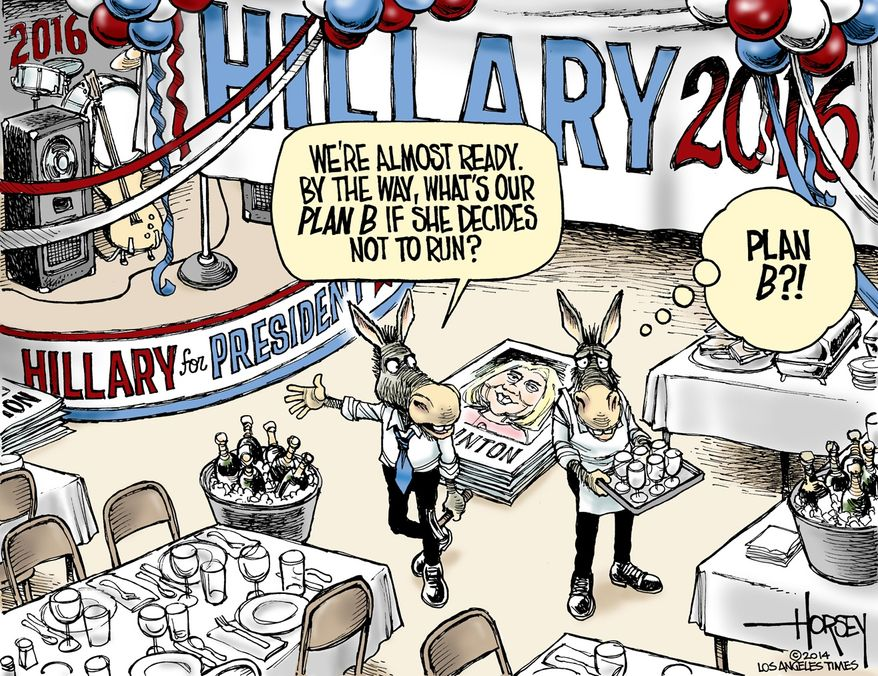 Illustration by David Horsey of the Los Angeles Times