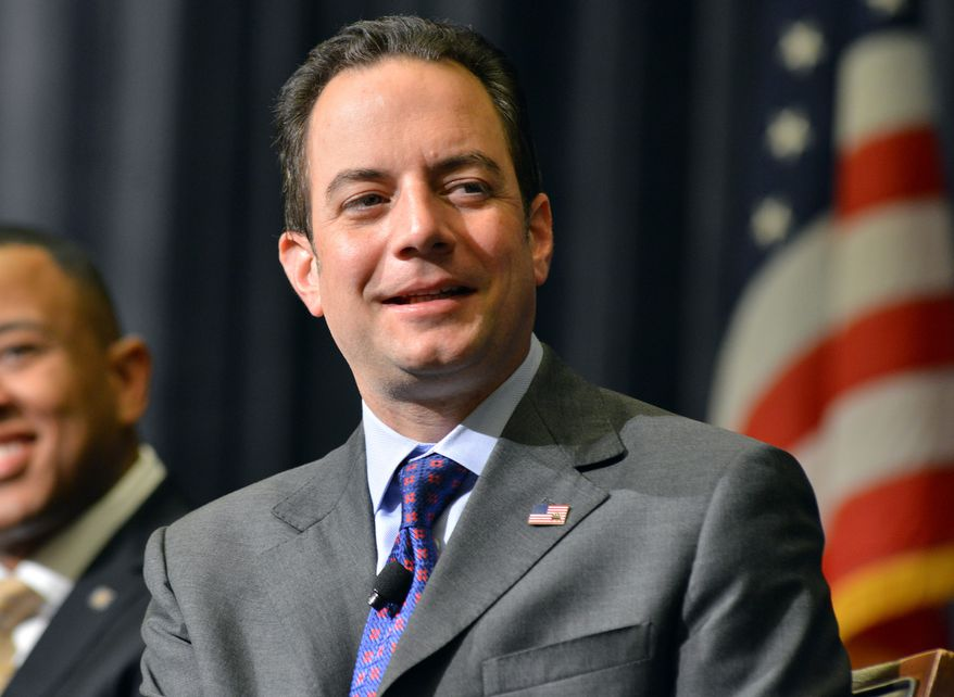 FILE - In this Aug. 15, 2013 file photo, Republican National Committee Chairman Reince Priebus speaks in Boston. A year after Priebus published a lengthy prescription for broadening the party's appeal, the GOP's image hasn't changed, despite its investment in outreach to the racial minorities, women and gay voters the party lost in droves to Democrats in 2012. (AP Photo/Josh Reynolds, File)