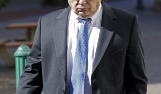 Anthony Badalamenti leaves Federal Court in New Orleans, Tuesday, Jan. 21, 2014. The former Halliburton manager was sentenced Tuesday to one year of probation for destroying evidence in the aftermath of BP's massive 2010 oil spill in the Gulf of Mexico.  Badalamenti, of Katy, Texas, had faced a maximum of one year in prison at his sentencing by U.S. District Judge Jay Zainey. Badalamenti pleaded guilty in October to one misdemeanor count of destruction of evidence. (AP Photo/Gerald Herbert)