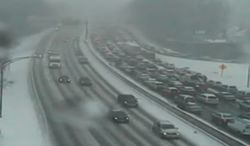 Maryland traffic cameras show delays from a weather-related crash on the Beltway's Outer Loop on Tuesday afternoon.